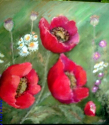 """Painting titled """"Poppies"""" by Steluta Dumitrescu Zelici, Original Art,"""