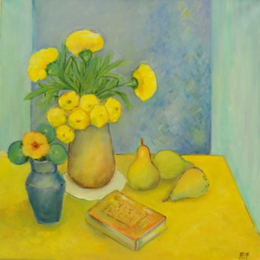 """Painting titled """"Still life with pea…"""" by Steluta Dumitrescu Zelici, Original Art,"""