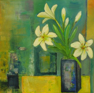 """Painting titled """"Imperial Lilies"""" by Steluta Dumitrescu Zelici, Original Art,"""
