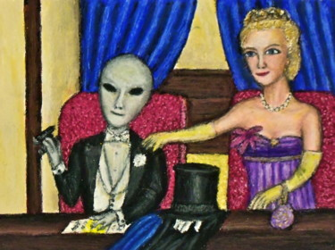 """Painting titled """"Sir Alien Grey -- I…"""" by Stephen Warde Anderson, Original Art, Acrylic Mounted on Other rigid panel"""
