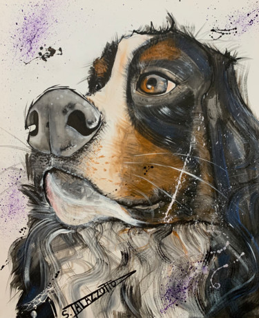 """Painting titled """"Cesar"""" by Stephane Palazzotto, Original Art, Acrylic"""