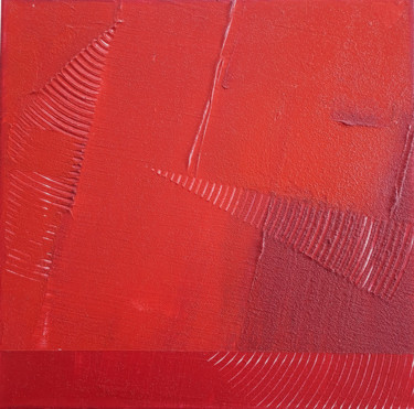 """Painting titled """"Monochrome Rouge 7"""" by Stéphanie Menard, Original Art, Acrylic Mounted on Stretcher frame"""
