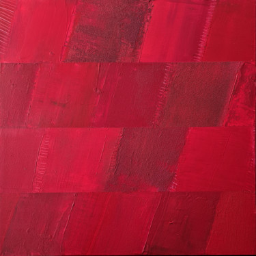 """Painting titled """"Monochrome Rouge 8"""" by Stéphanie Menard, Original Art, Acrylic Mounted on Stretcher frame"""