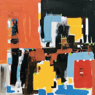 """Painting titled """"CityZen"""" by St.Ghor, Original Art, Acrylic"""