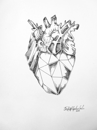 diamond heart sterling clydesdale