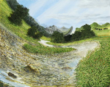 """Painting titled """"mountain brook / Ge…"""" by Artdemo, Original Art, Oil"""