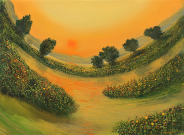 Nature Painting, oil, hyperrealism, artwork by Artdemo