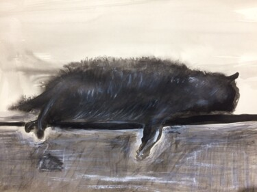 Cat Painting, ink, conceptual art, artwork by Steve Phillips