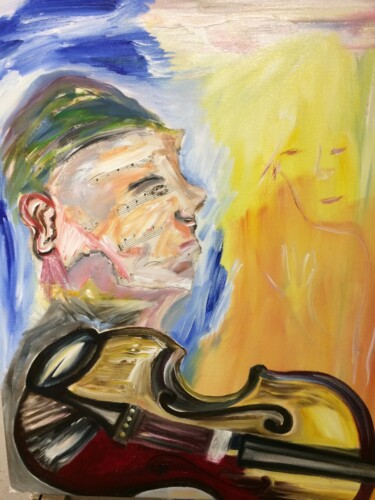 Music Painting, oil, impressionism, artwork by Steve Phillips