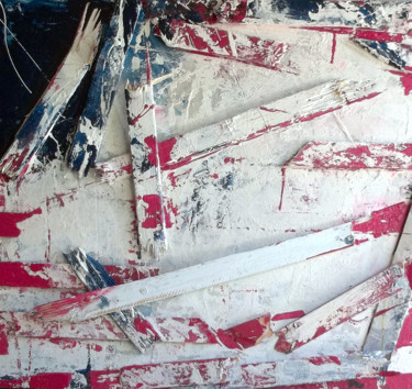 """Painting titled """"USED FLAG FOR SALE."""" by Steve Beck, Original Art,"""