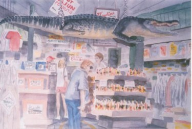 """Painting titled """"Shopping in New Orl…"""" by Steven Hawke, Original Art,"""