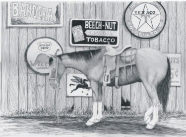"""Painting titled """"Horse in Bandera, T…"""" by Steven Hawke, Original Art,"""
