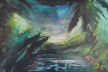 Nature Painting, acrylic, abstract, artwork by Strait Faya
