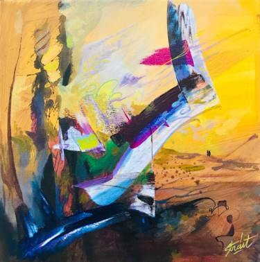 Dance Painting, acrylic, abstract, artwork by Strait Faya