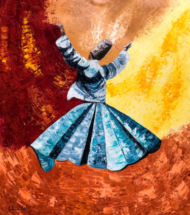 """Painting titled """"Whirling relinquish…"""" by Suleman Rehman, Original Art, Acrylic"""