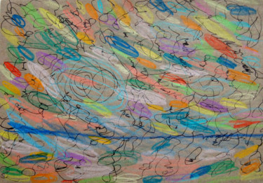 """Drawing titled """"The Perfect Hearing"""" by Lina Stern, Original Art, Conté"""