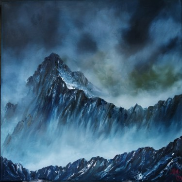 Mountainscape Painting, oil, figurative, artwork by Marina Orlova-Shaiupova