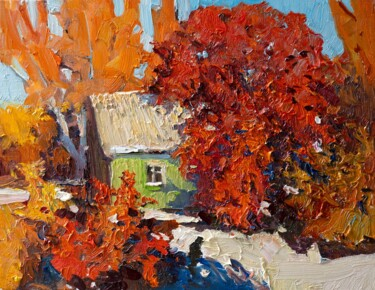 """Painting titled """"Landscape woith a G…"""" by Suren Nersisyan, Original Art, Oil Mounted on Stretcher frame"""