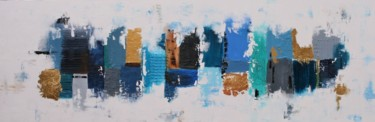 """Painting titled """"XXXL Abstract Blue…"""" by Susan Wooler, Original Art, Acrylic Mounted on Stretcher frame"""