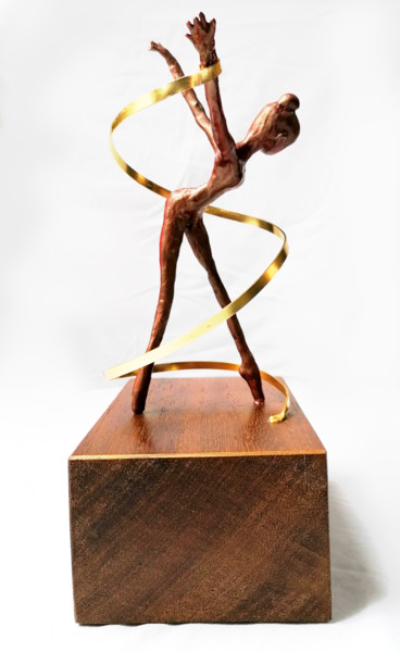 """Sculpture titled """"Dancer with a Ribbon"""" by Susana Zarate, Original Art, Polymer clay"""