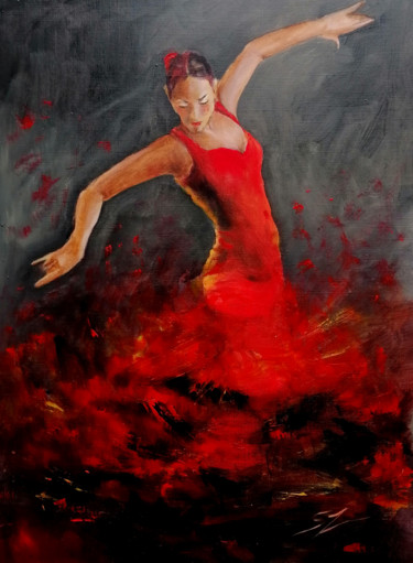 """Painting titled """"Passion for Dance"""" by Susana Zarate, Original Art, Oil"""