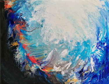 """Painting titled """"Trouble waters"""" by Susana Zarate, Original Art, Acrylic"""