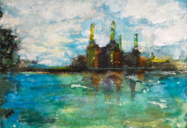 """Painting titled """"Battersea Before"""" by Suzsi Corio, Original Art, Watercolor"""