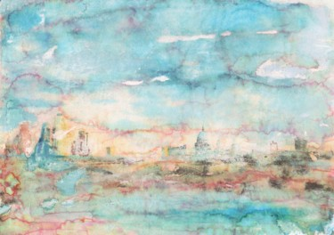 """Painting titled """"St Paul's Across th…"""" by Suzsi Corio, Original Art, Watercolor"""