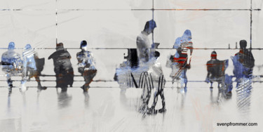 """Printmaking titled """"AIRPORT XXX - Mixed…"""" by Sven Pfrommer, Original Art, Analog Print"""