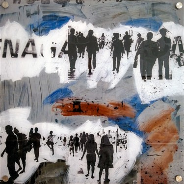 """Printmaking titled """"URBN CROWD II - by…"""" by Sven Pfrommer, Original Art, Analog Print"""