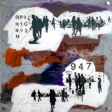 """Printmaking titled """"URBN CROWD III - by…"""" by Sven Pfrommer, Original Art, Analog Print"""