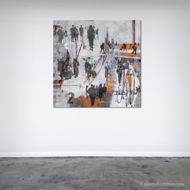 """Printmaking titled """"HUMAN CROWD XI - by…"""" by Sven Pfrommer, Original Art, Analog Print"""