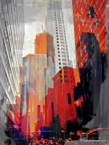 """Printmaking titled """"NY DOWNTOWN XIV by…"""" by Sven Pfrommer, Original Art, Analog Print"""