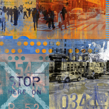 """Printmaking titled """"MOVE ON XI by Sven…"""" by Sven Pfrommer, Original Art, Analog Print"""