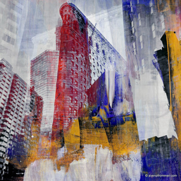 """Printmaking titled """"NY DOWNTOWN III by…"""" by Sven Pfrommer, Original Art, Analog Print"""