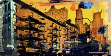 """Printmaking titled """"NEW YORK STAIRS by…"""" by Sven Pfrommer, Original Art, Analog Print"""