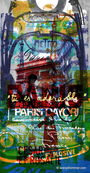 """Printmaking titled """"PARIS III by Sven P…"""" by Sven Pfrommer, Original Art, Analog Print"""