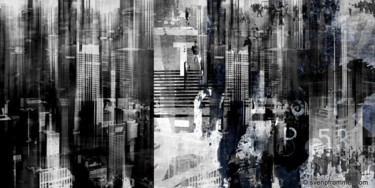 """Printmaking titled """"CHICAGO SKY II by S…"""" by Sven Pfrommer, Original Art, Analog Print"""