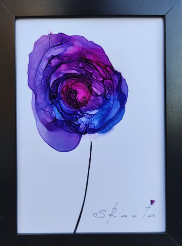 Flower Painting, ink, abstract, artwork by Svetlana Ranta