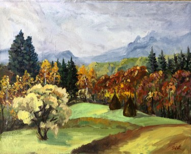 """Painting titled """"Autumn in the Carpa…"""" by Svet Schiel Gallery, Original Art, Oil"""