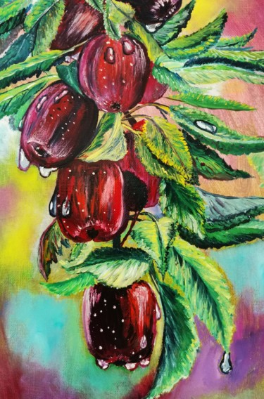 """Painting titled """"Apples"""" by Светлана Кунегина, Original Art, Oil"""