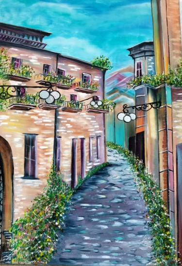 """Painting titled """"Spain"""" by Светлана Кунегина, Original Art, Oil"""