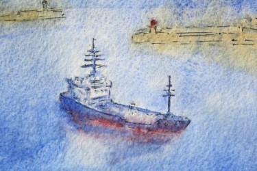 """Painting titled """"homecoming"""" by Tb, Original Art, Watercolor"""