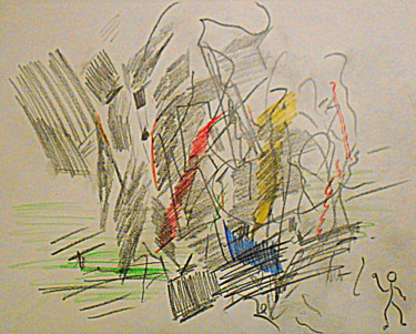 """Drawing titled """"the painter"""" by Tom Schrijver, Original Art, Pencil"""