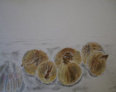 """Painting titled """"onions"""" by Tom Schrijver, Original Art, Acrylic"""