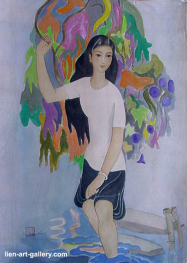 Color Painting, watercolor, abstract, artwork by Ta Phuong Thao