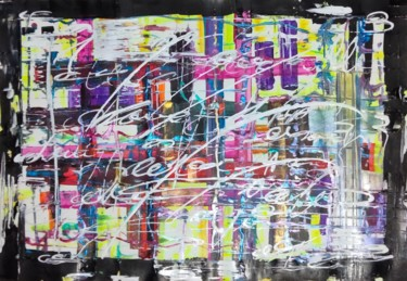 """Drawing titled """"calligraphy"""" by Taijul, Original Art, Acrylic"""