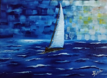 """Painting titled """"SeaBoat"""" by Taijul, Original Art, Acrylic"""