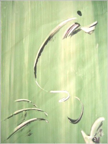 """Painting titled """"Springy 06"""" by Delphine Bernard, Original Art,"""