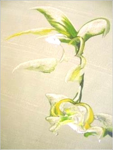 """Painting titled """"Springy 08"""" by Delphine Bernard, Original Art,"""